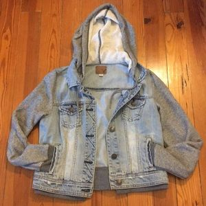 American Eagle Jean and Sweatshirt Jacket